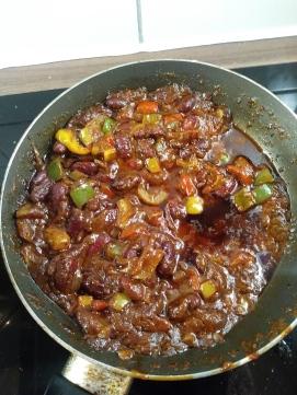 Picante spicy bean chilli